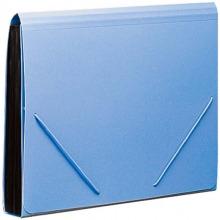 齐心(Comix)F4302 12格风琴包 松紧带式 A4 蓝色 单个装