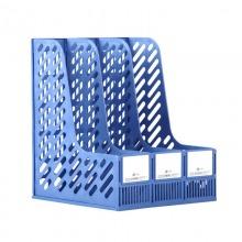 富得快(Fudek)HY608A 三格文件栏|资料栏 A4 蓝色