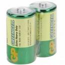超霸(GP) 1号碳性锌锰电池   2粒/卡