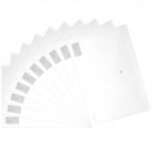 得力(Deli)5505 A4透明按扣文件袋 白色 10个/包