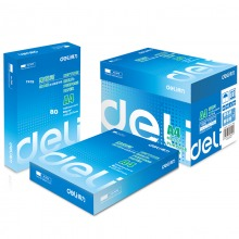 得力(Deli)7419-莱茵河80克A4复印纸 5包/箱