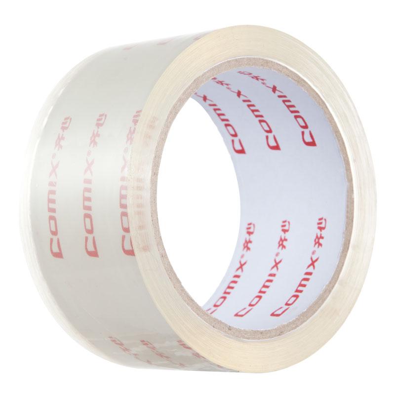 齊心(COMIX)JT5506-6 透明封箱膠帶 55mm*60y 6卷/筒