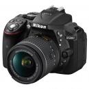 尼康(Nikon)D5300 单反套机(AF-P DX 尼克尔 18-55mm f/3.5-5.6G VR)黑色