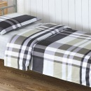 优质纯棉上下铺床实惠套装90*190cm(三件套+被子+褥子+枕头)