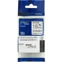 兄弟(brother)TZe-SM941 强粘性亚光银底黑字标签色带 18mm(适用95/