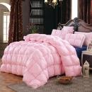 分区保暖扭花羽绒被 多空间回暖 柔赛丝面料 200*230cm 粉色 5.2斤