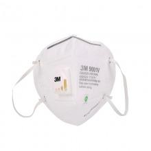 3M 9001V 折叠耳带式带阀防护口罩 25/盒