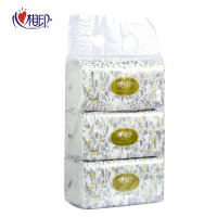 心相印 RDT200 恒金200抽软抽塑装双层面巾纸 3包/提