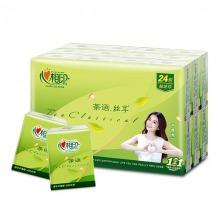 心相印手帕纸 茶语丝享系列4层纸巾*24包(超迷你)