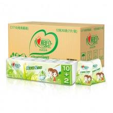 心相印茶语手帕纸 经典系列 4层6条*12包 (整箱销售/新老包装随机发货)