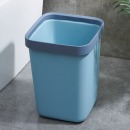 佳佰 压圈塑料方形垃圾桶 小号方形桌面垃圾桶6L
