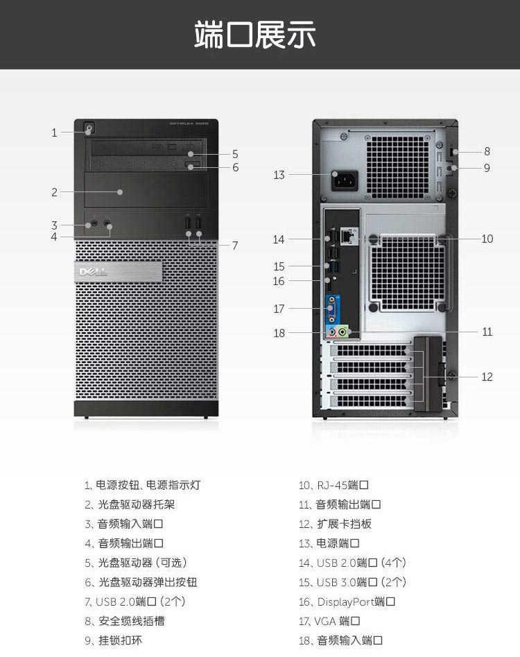 戴尔3020MT台式电脑5