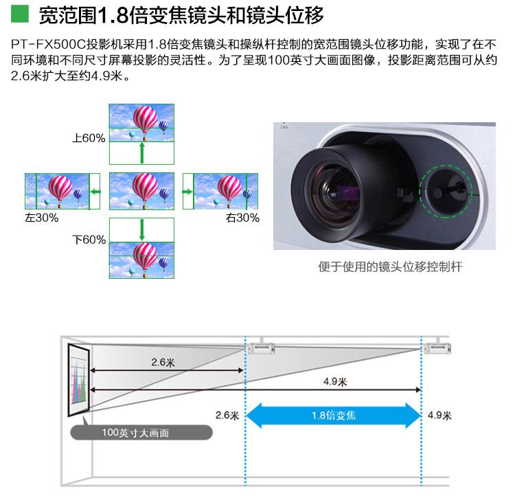松下PT-FX500C高清投影仪08