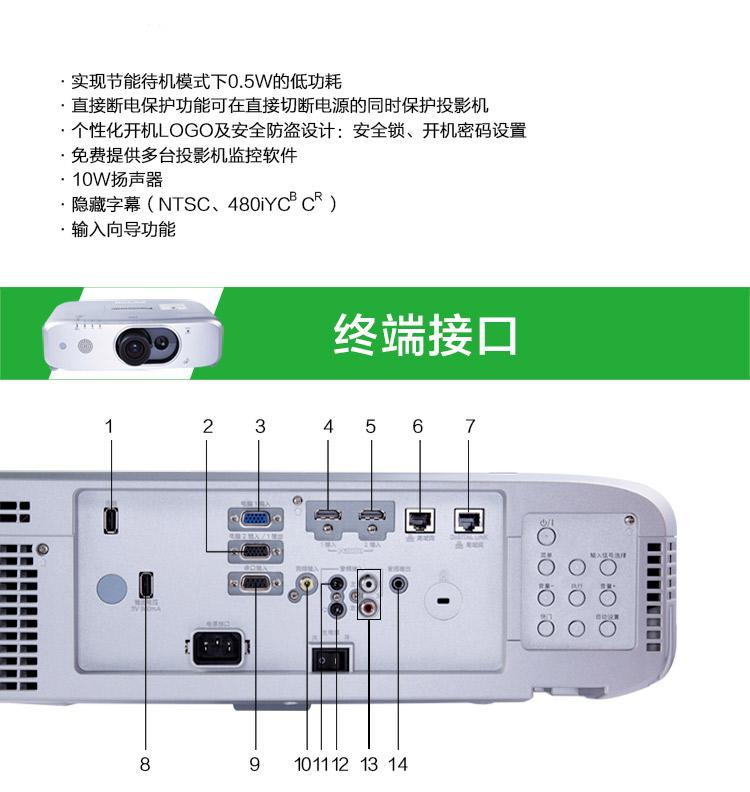 松下PT-FX500C高清投影仪12