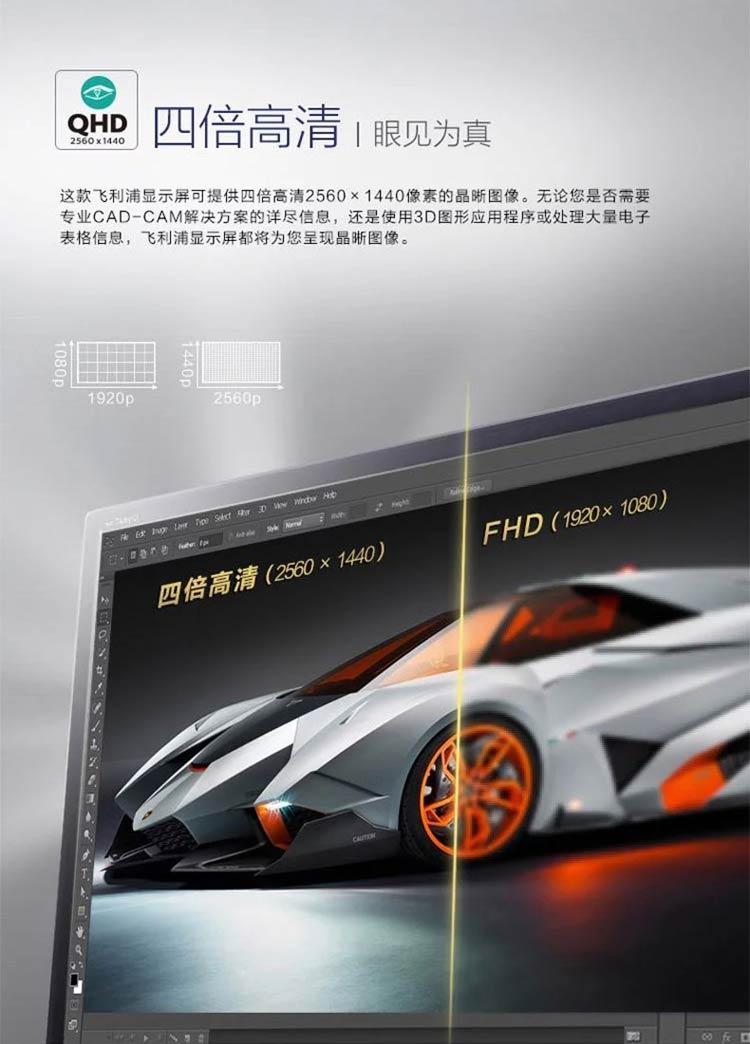 飞利浦显示器,液晶显示器,LED背光显示器,飞利浦BDM3270QP显示器
