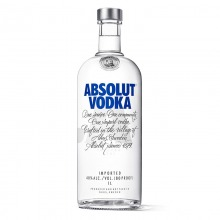 绝对伏特加(Absolut Vodka)洋酒 伏特加 1000ml