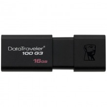 金士顿(Kingston)DT 100G3 16GB U盘 USB3.0 黑色